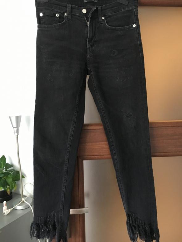 czarne jeansy ZARA WOMEN...