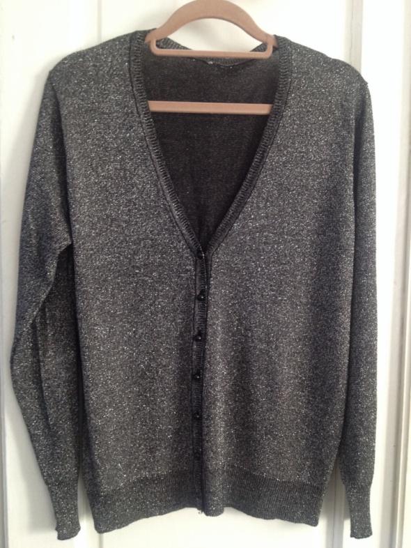 czarno srebrny sweter rozm L