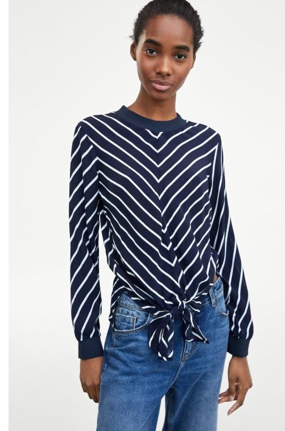 Bluzka wiązana Zara