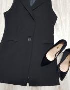 Elegancka czarna kamizelka xs s