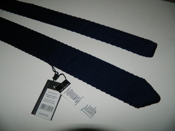 Top Secret męski krawat GRANATOWY