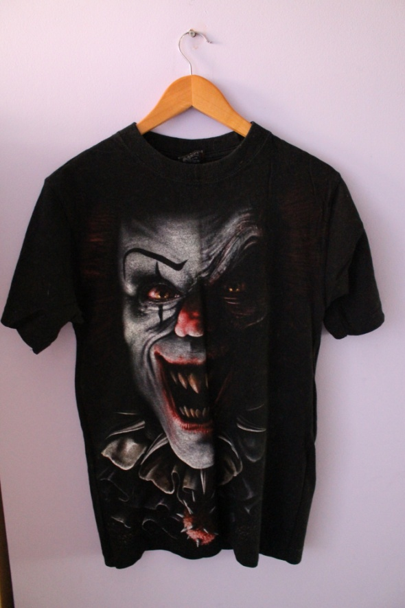 Tshirt CLOWN czarny SPIRAL DIRECT rozmiar S