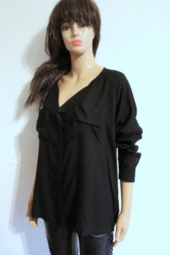 Czarna elegancka koszula na długi rękawek r M...