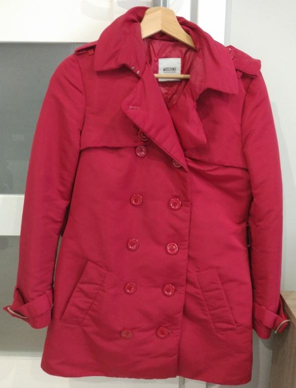 Czerwony bordowy płaszcz kurtka bardzo ciepły...