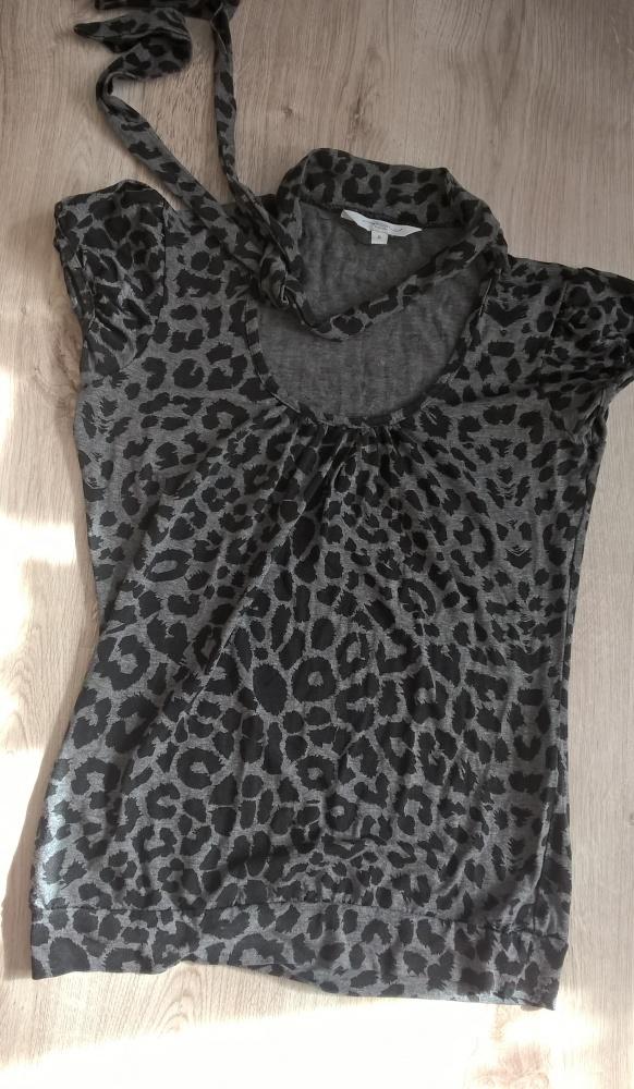 Choker bluzka damska panterka szara New look 36 S