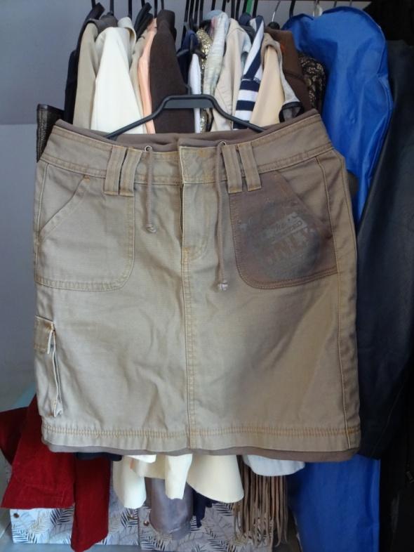 Beżowa spódniczka only jeans S M z kieszeniami...