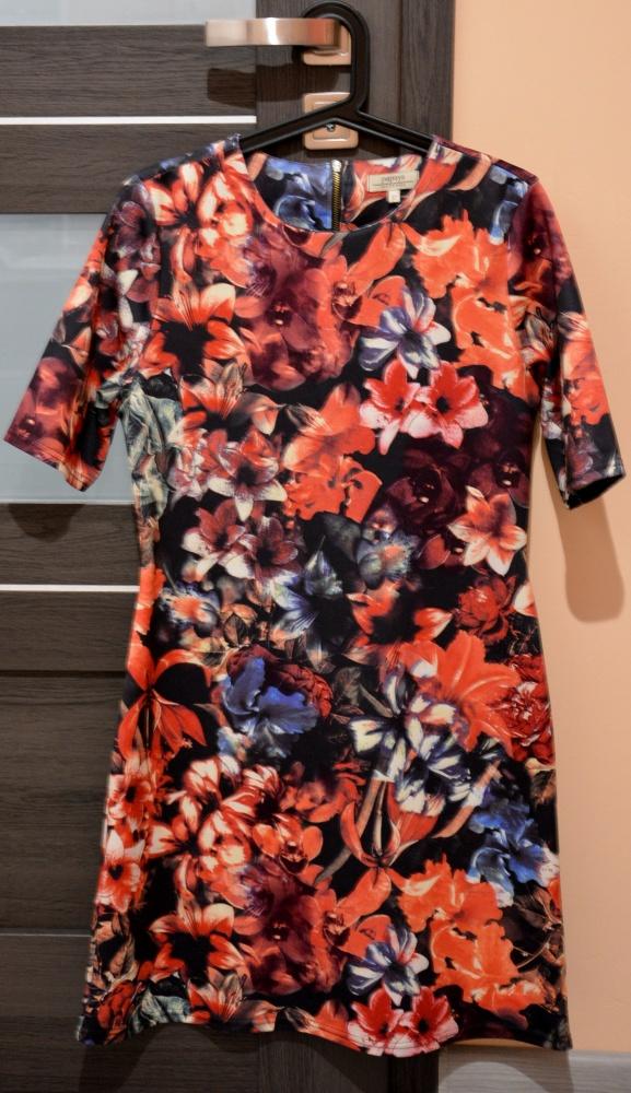 Sukienka Papaya 40 kwiaty zamek