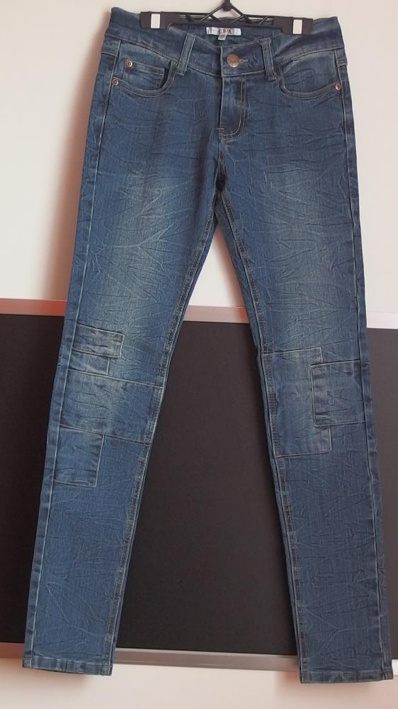 Spodnie i spodenki Spodnie jeansowe z przeszyciami Cubus xxs 32 xs 34