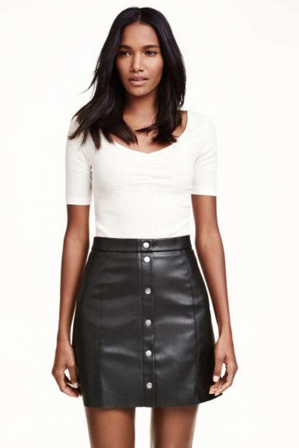 Czarna koszulka top tshirt h&m xs 34 s 36 bluzka