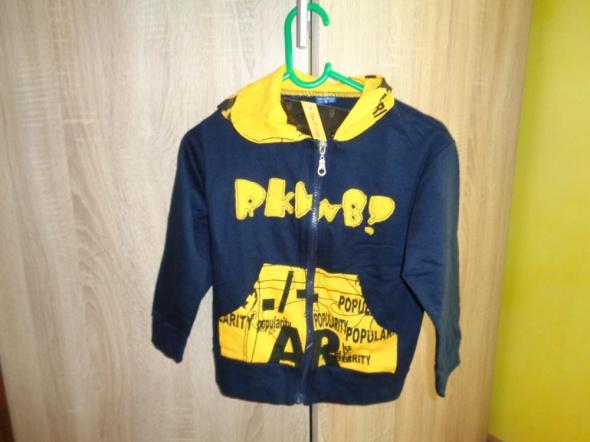 Bluza chłopięca granatowa z żółtym na 3 latka
