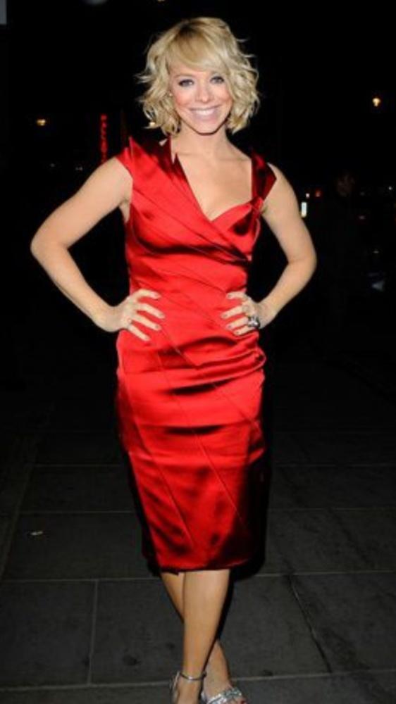 KAREN MILLEN czerwona suknia