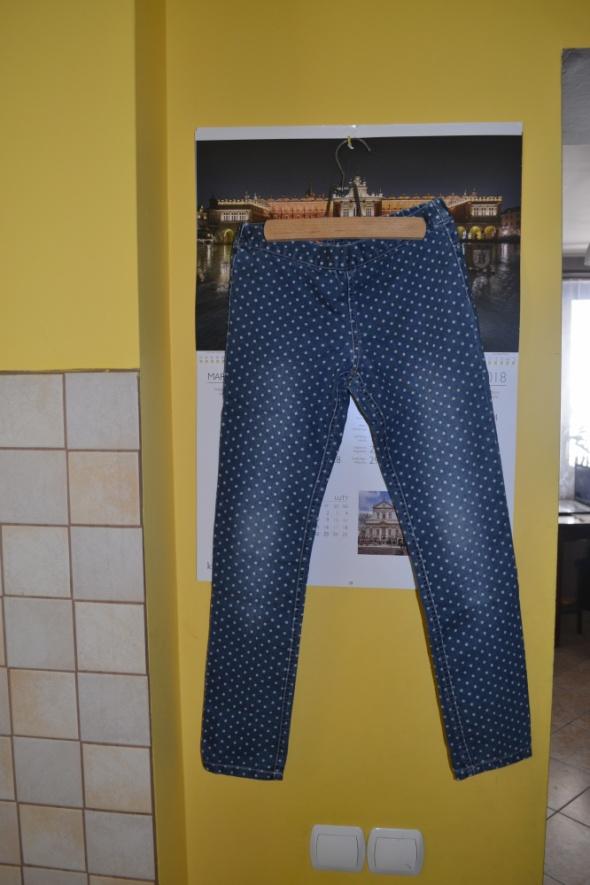 Manguun kids Spodnie tregginsy jeansowe 140cm 10 lat