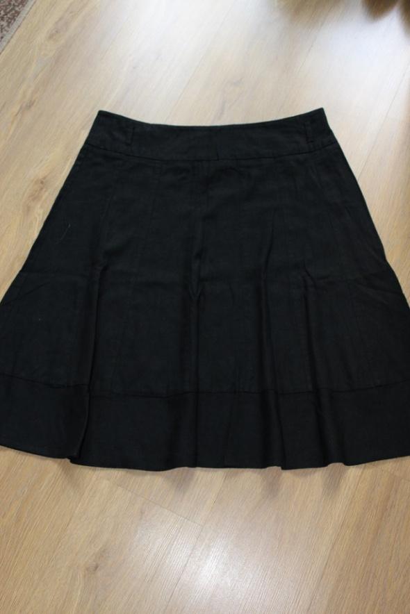 spódnica czarna krótka mini lniana letnia...