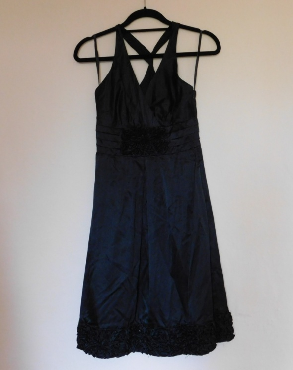 Coast czarna sexy sukienka jedwab 36...