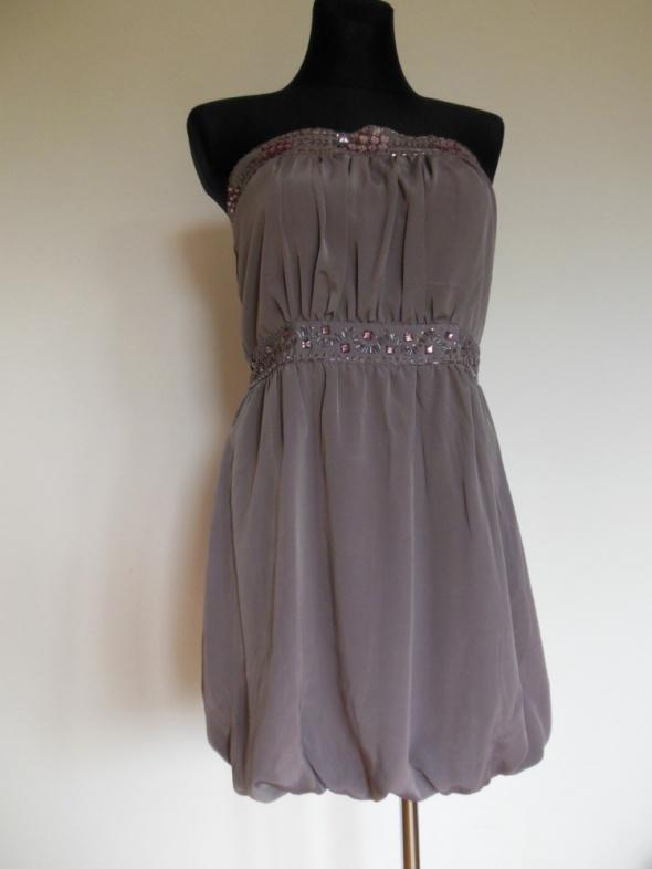 Select mini sukienka brudny róż gorsetowa 40...