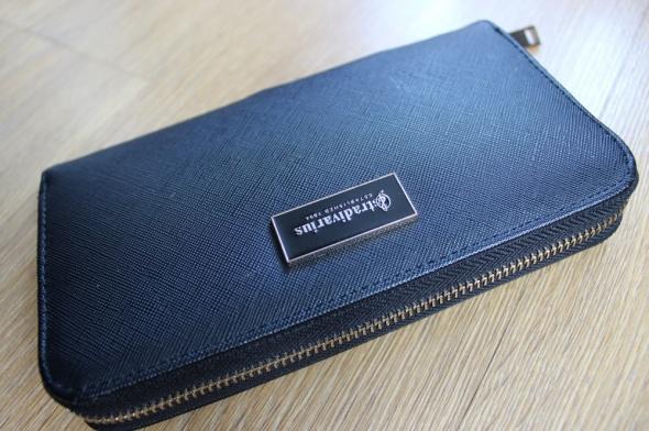 portfel portmonetka czarny klasyczny stradivarius