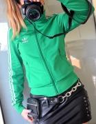 Adidas Firebird bluza zielona srebrna znaczek 36...