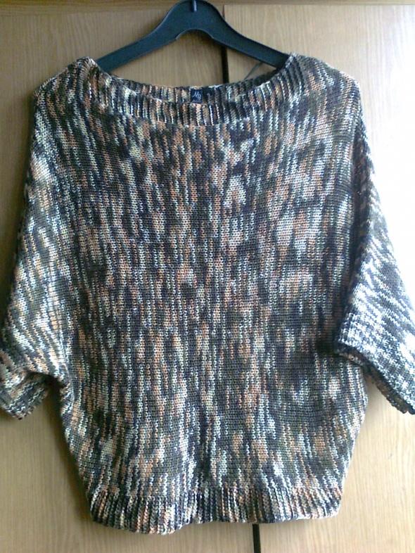sweterek nietoperz melanż