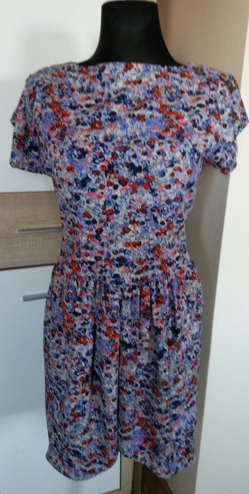 Sukienka floral z kieszeniami