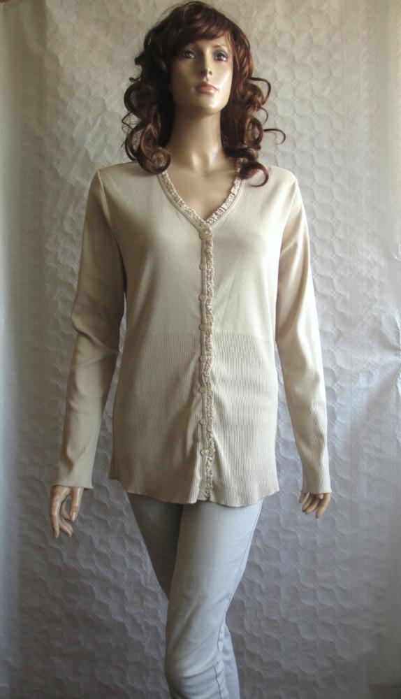 MOM BY LINDEX kardigan sweter ciążowy beż NOWY 40...