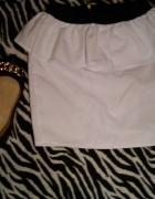 biała spódniczka z baskinką