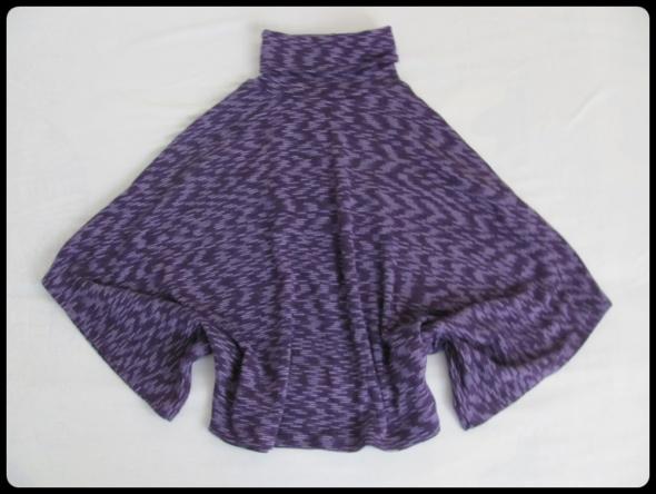 Sweter z golfem luźny krój nietoperz fajnie leży na L i XL