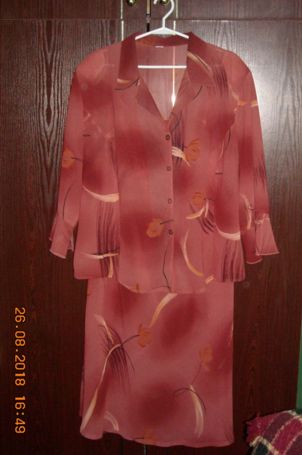 Komplet kostium garsonka sukienka bluzka spódnica 50 52 54