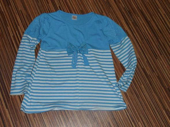 niebieska bluzka w paski rozmiar 152