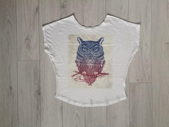 Bluzka koszulka luźna S M sowa