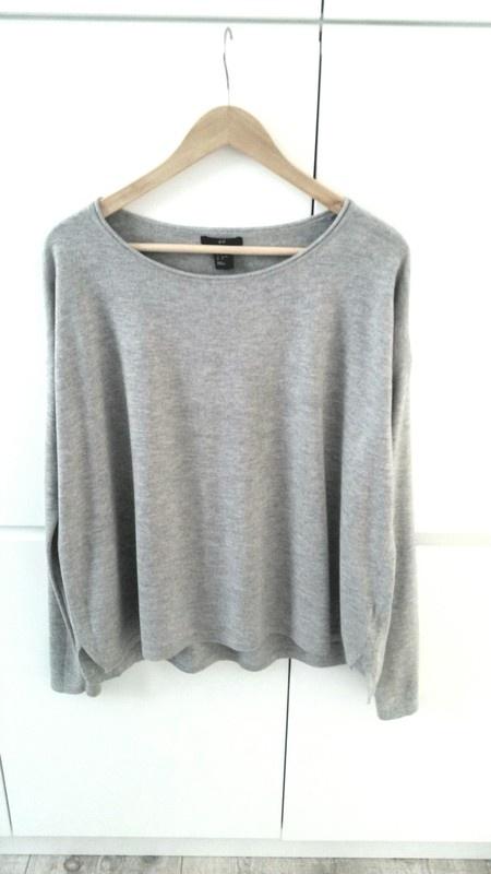 Szary sweterek oversize H&M basic
