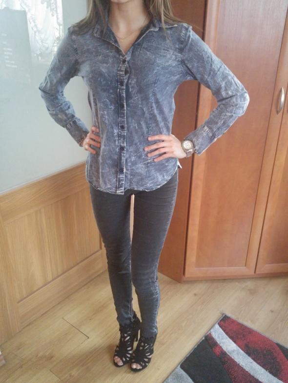 Koszula jeans guziki