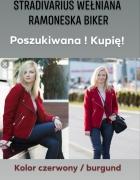 Poszukiwana Kupię Ramoneska czerwona burgundowa Stradivarius we...