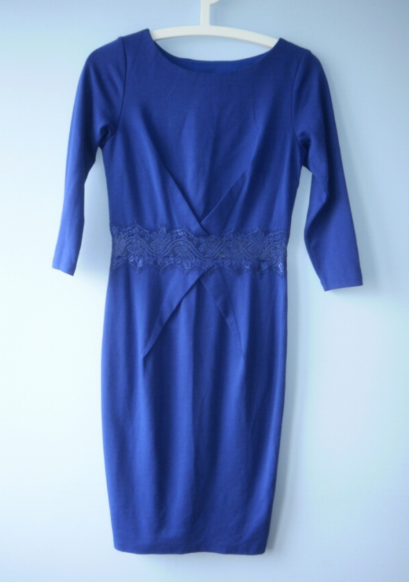 Little Mistress asos kobaltowa sukienka elegancka...