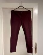 Bordowe spodnie z zameczkami L...