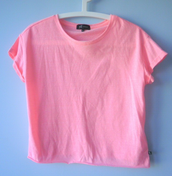 Reserved neonowa koszulka tshirt neon oversize