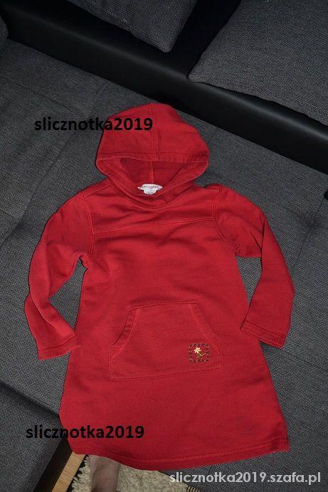 Bluza GYMBOREE czerwona 4 5 lat