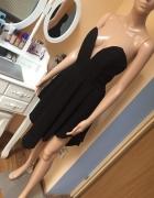 Czarna sukienka asymetryczna gorset XS S...