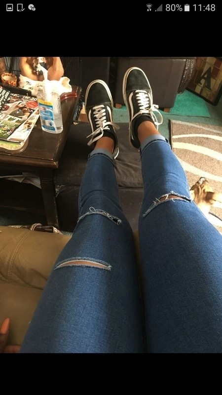 Jeansy niebieskie z wysokim stanem