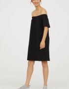 Sukienka H&M odkryte ramiona czarna...