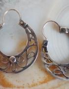 Stare srebrne kolczyki Warmet...