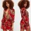 PRETTYLITTLETHING sukienka kwiaty wzory 40 42 L XL...
