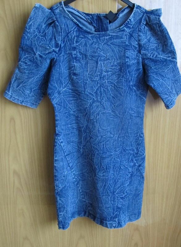 Suknie i sukienki VILA sukienka jeans S