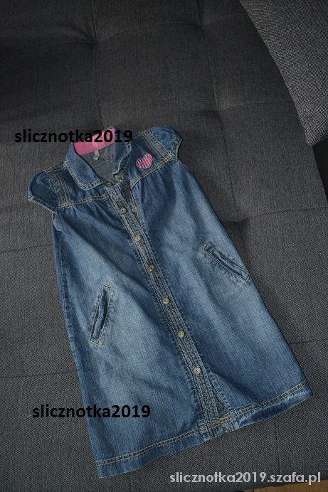 Jeansowa sukienka tunika 4 5 lat 104cm...