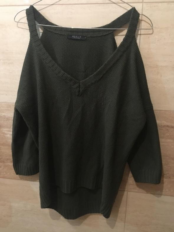 zielony khaki sweter mohito 36 S 38 M...