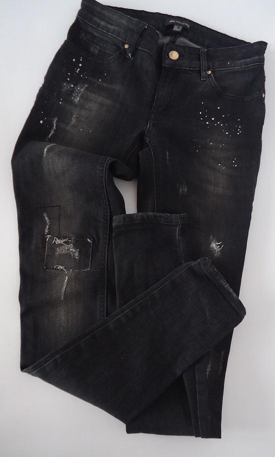 jeansy dziury przetarcia Mango 36