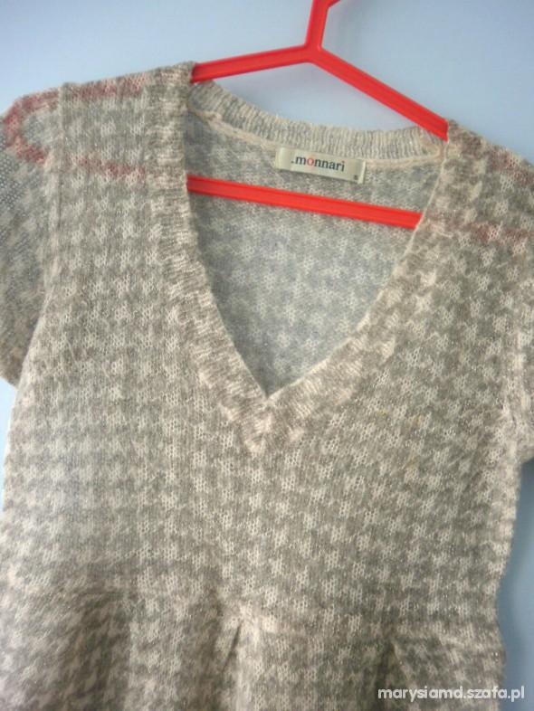 Monnari sweterkowa bluzeczka w pepitkę...