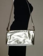 Elegancka składana złota biała torebka Mohito...
