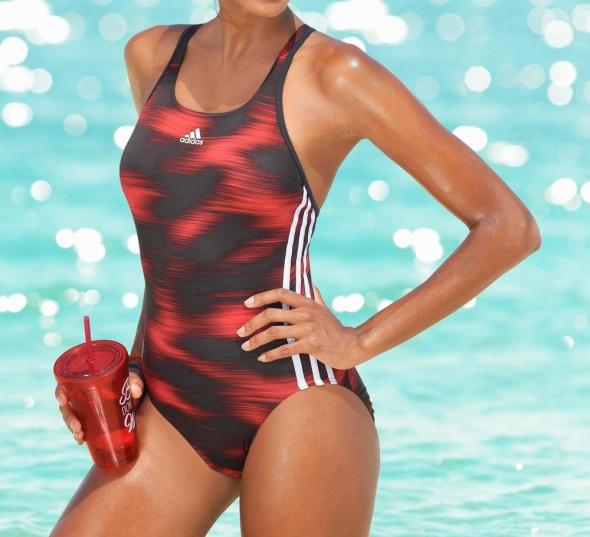 42 44 Adidas Strój kąpielowy ESSENCE FLARE GRAPHIC SWIMSUIT...