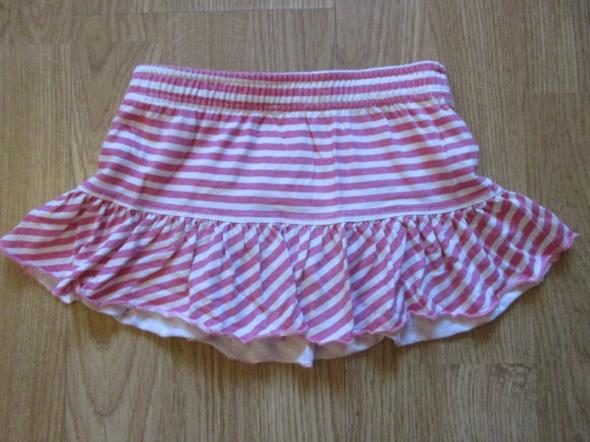 Spódniczka z majtkami różowe paski roz 68