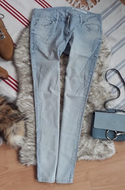 boyfriend jeans L 40 paski blue baby